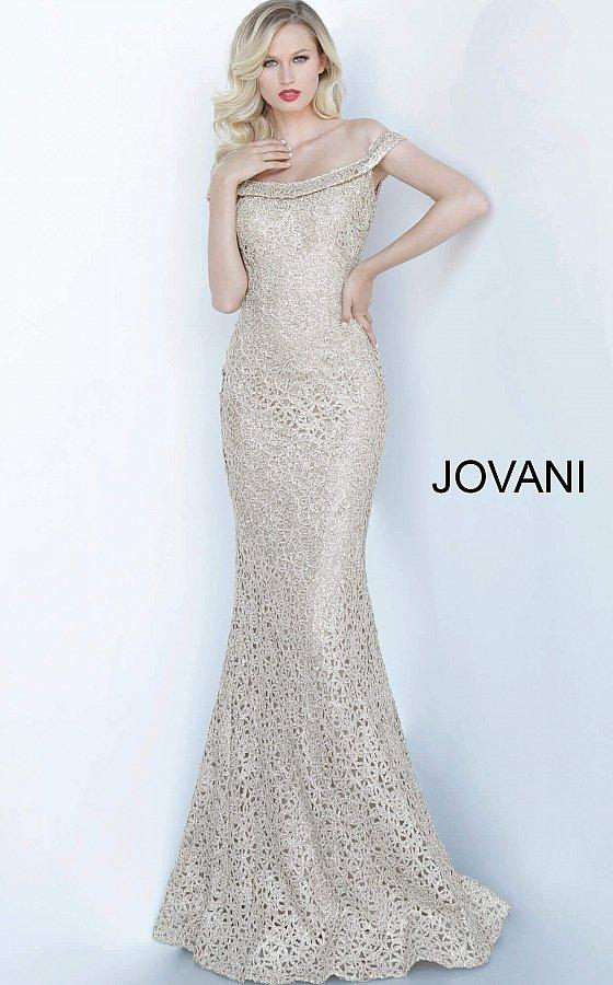 Jovani 63815 champagne mother of the bride dress