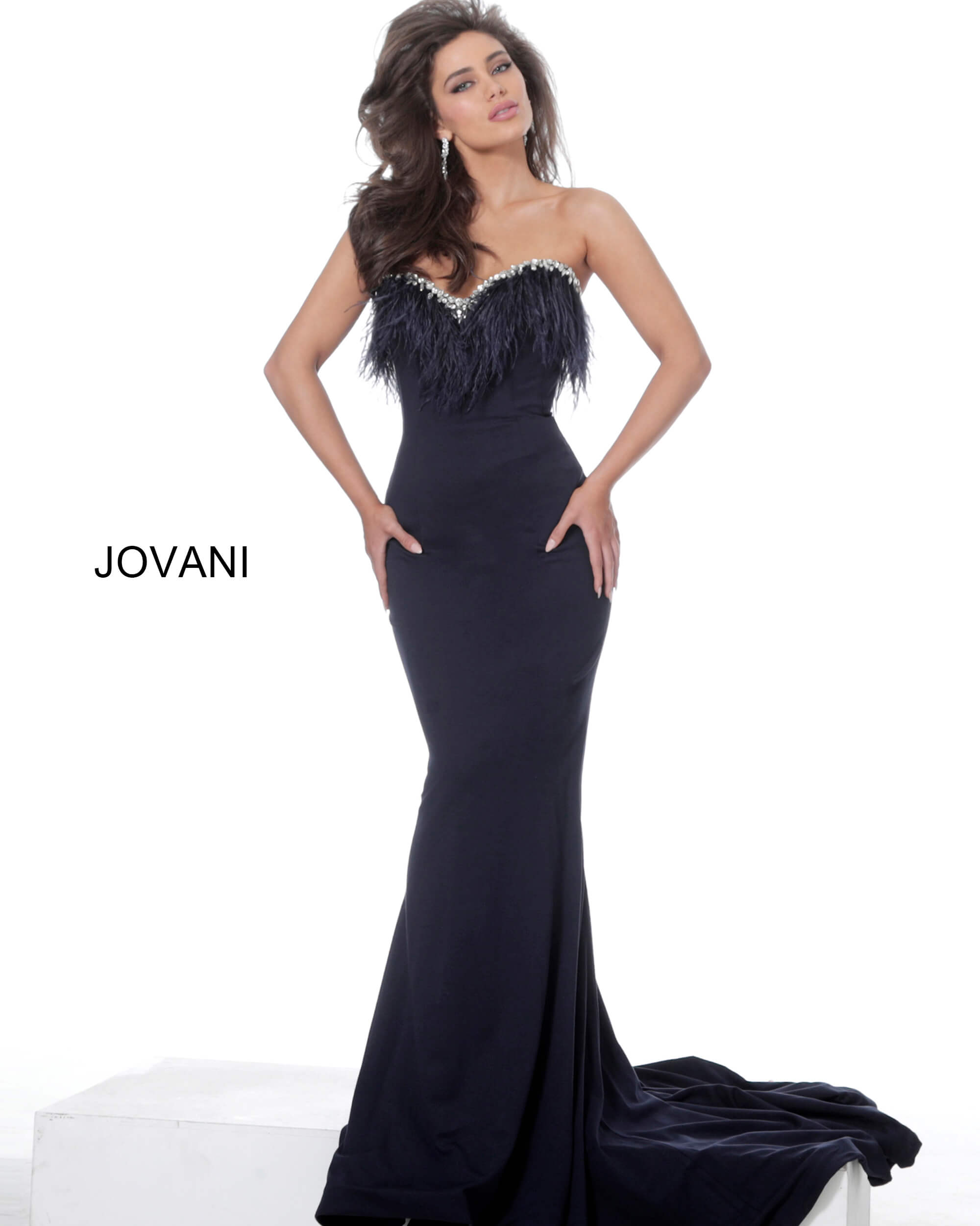 Jovani 63892 sweetheart long dress