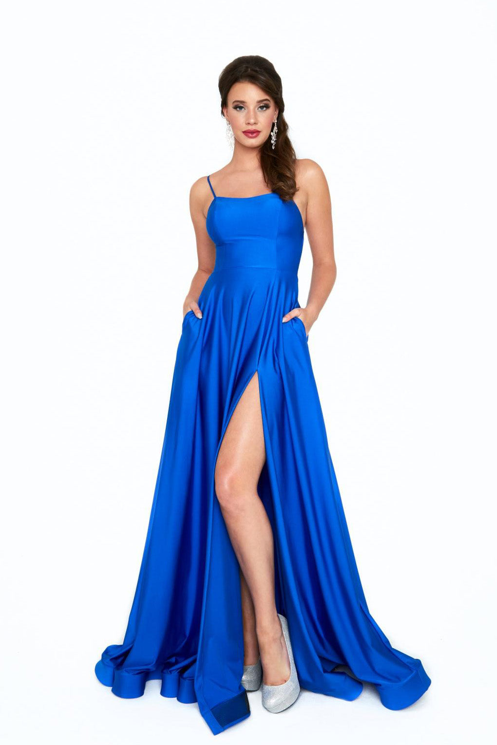 Atria 6521h royal blue prom dress
