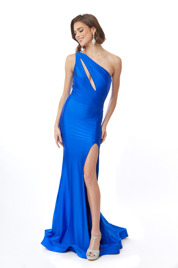Atria 6555 one shoulder prom dress