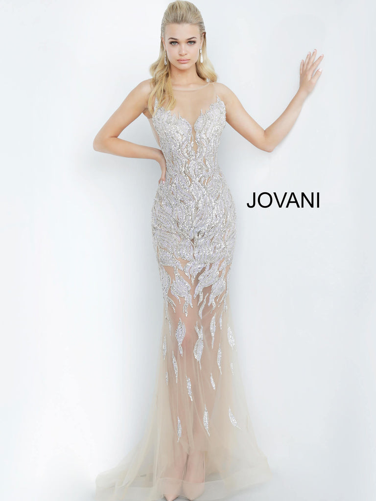 Jovani 67786 long sheer evening gown