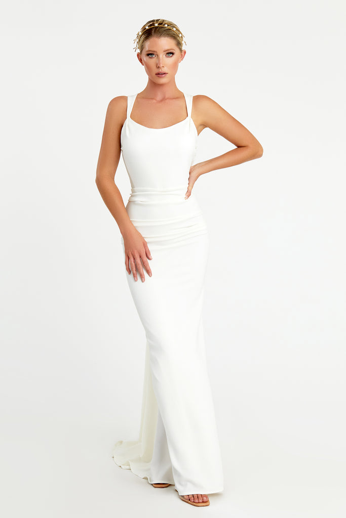 Nicole Bakti 7078 long evening gown