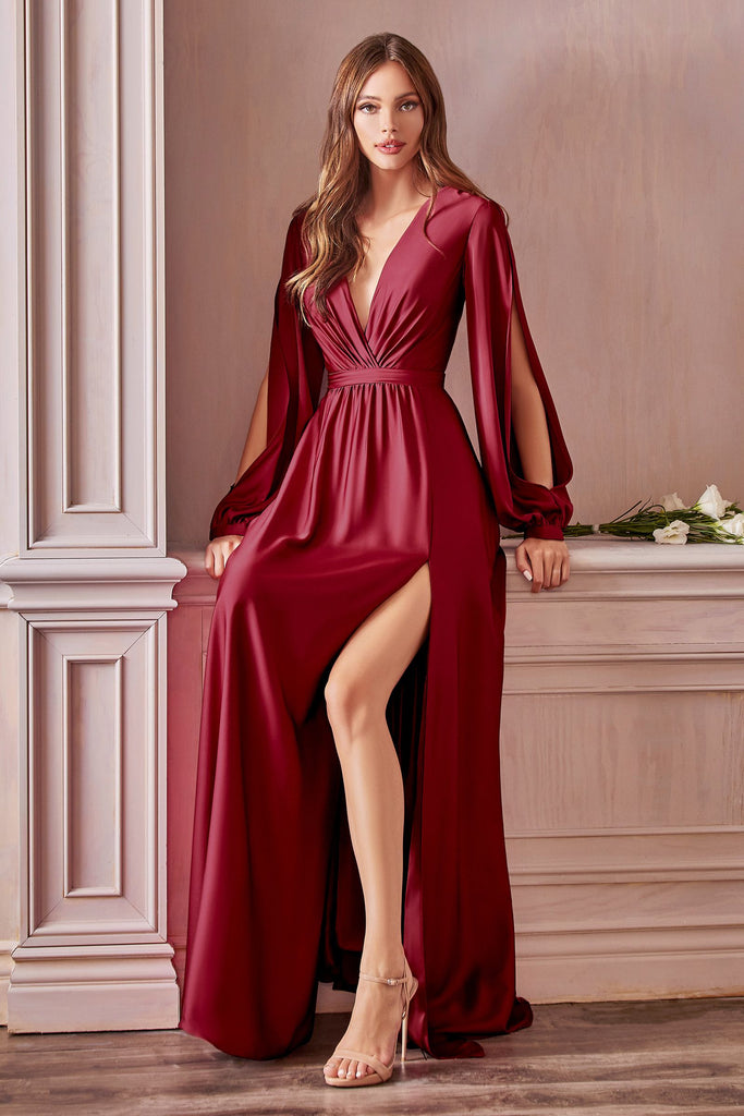 Rhodes long sleeve aline long gown