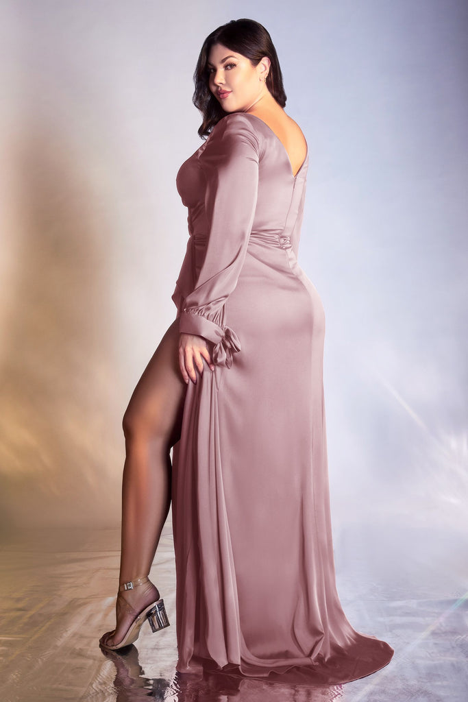 The Dover ruched bridesmaid long gown
