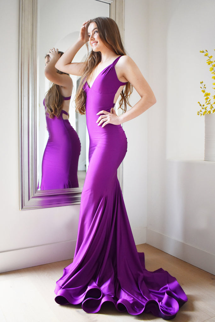 Atria 6502 plum crazy prom dress