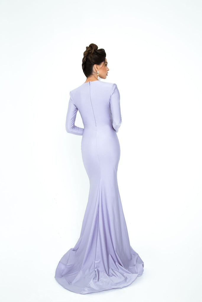 Atria 6103H long sleeve evening dress