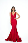 atria 6502H red low back prom dress