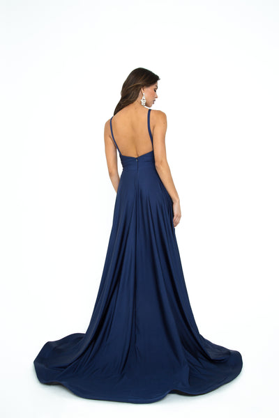 Atria 6505H navy blue prom dress