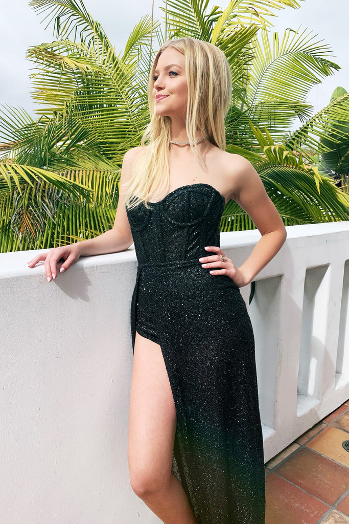 black bustier avery gown