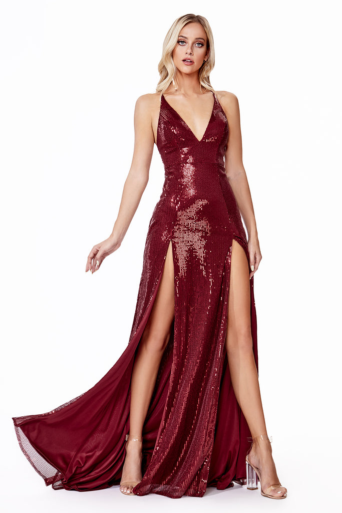 manhattan sequins prom dress