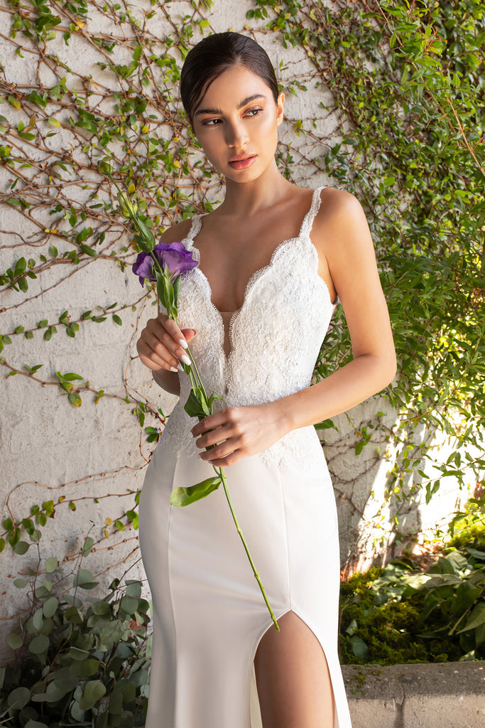 simple cheap destination bridal gown