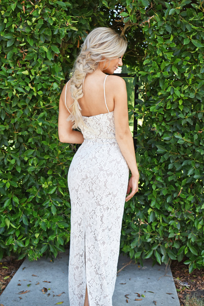 rene the label lace bustier dress