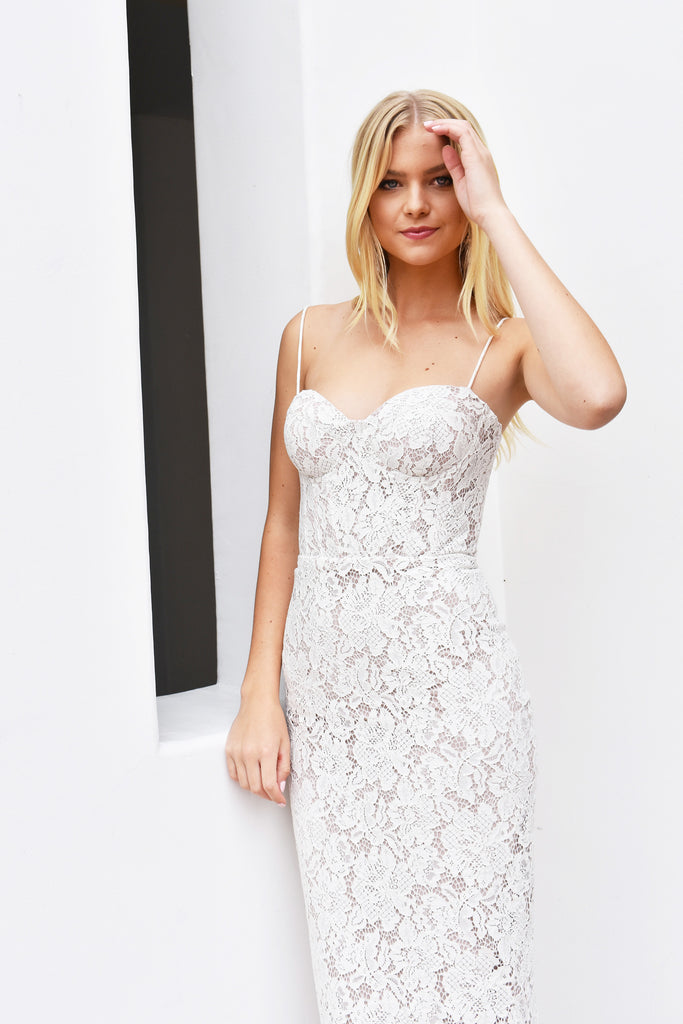 Charlotte lace bustier dress