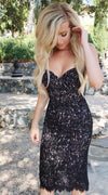 Rene the label charlotte black lace bustier dress