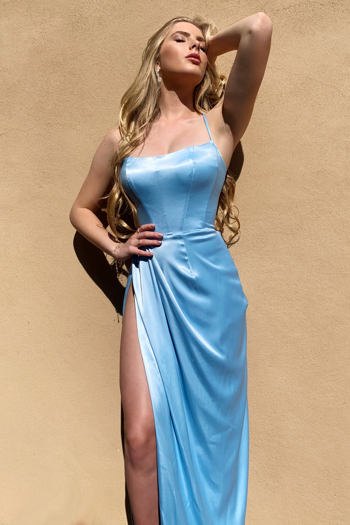 rene the label dylan gown blue satin prom dress