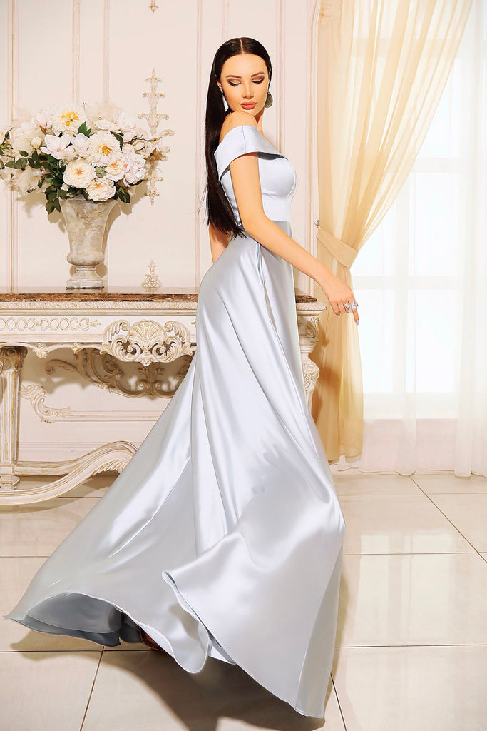 jadore jp110 off the shoulder satin ball gown