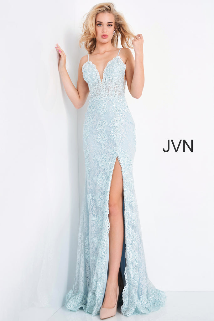 Jovani JVN00864 light blue
