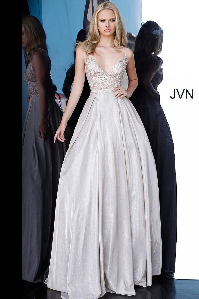 Jovani JVN2206 light blue prom dress