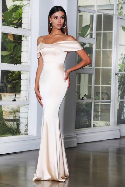 Jadore Jx4083 satin bridesmaid long dress