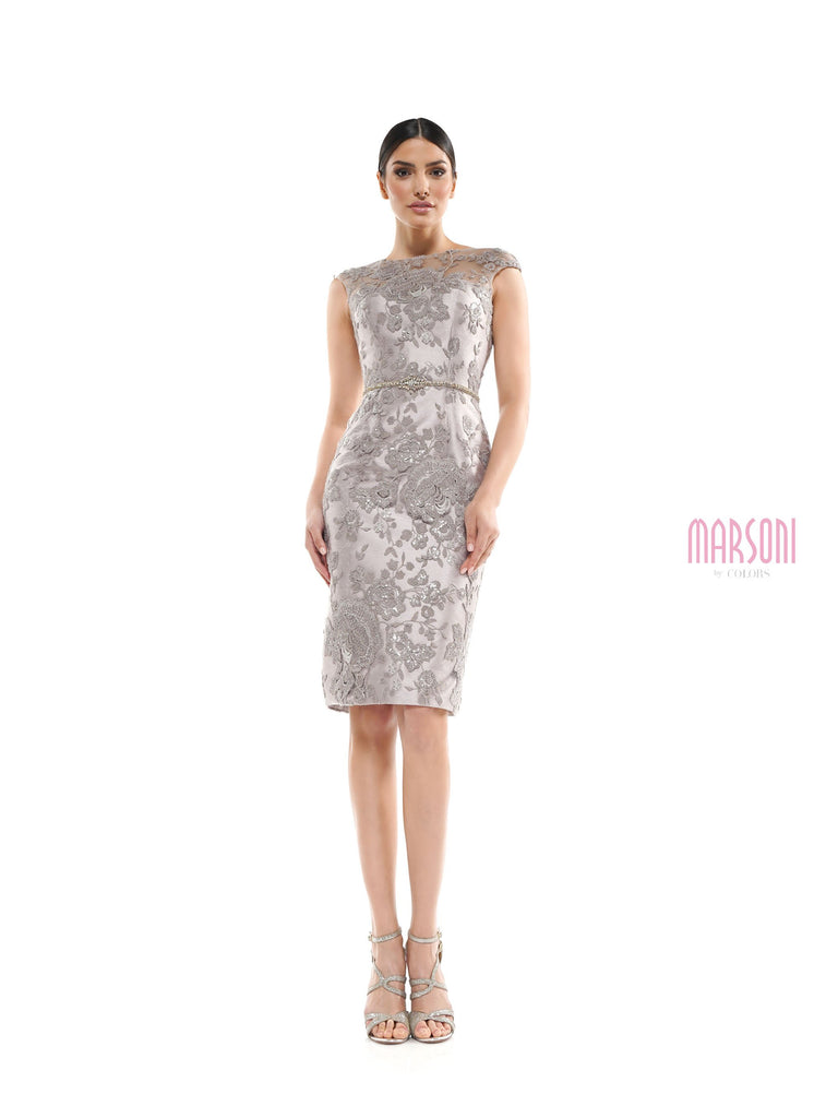 Marsoni MV1062 taupe mother of the bride dress
