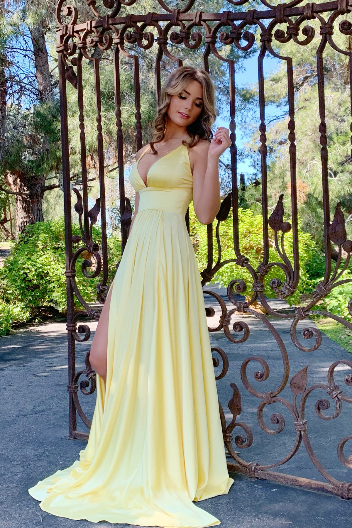 Madeline gown yellow prom dress