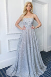 designer silver sequin teen pageant gown