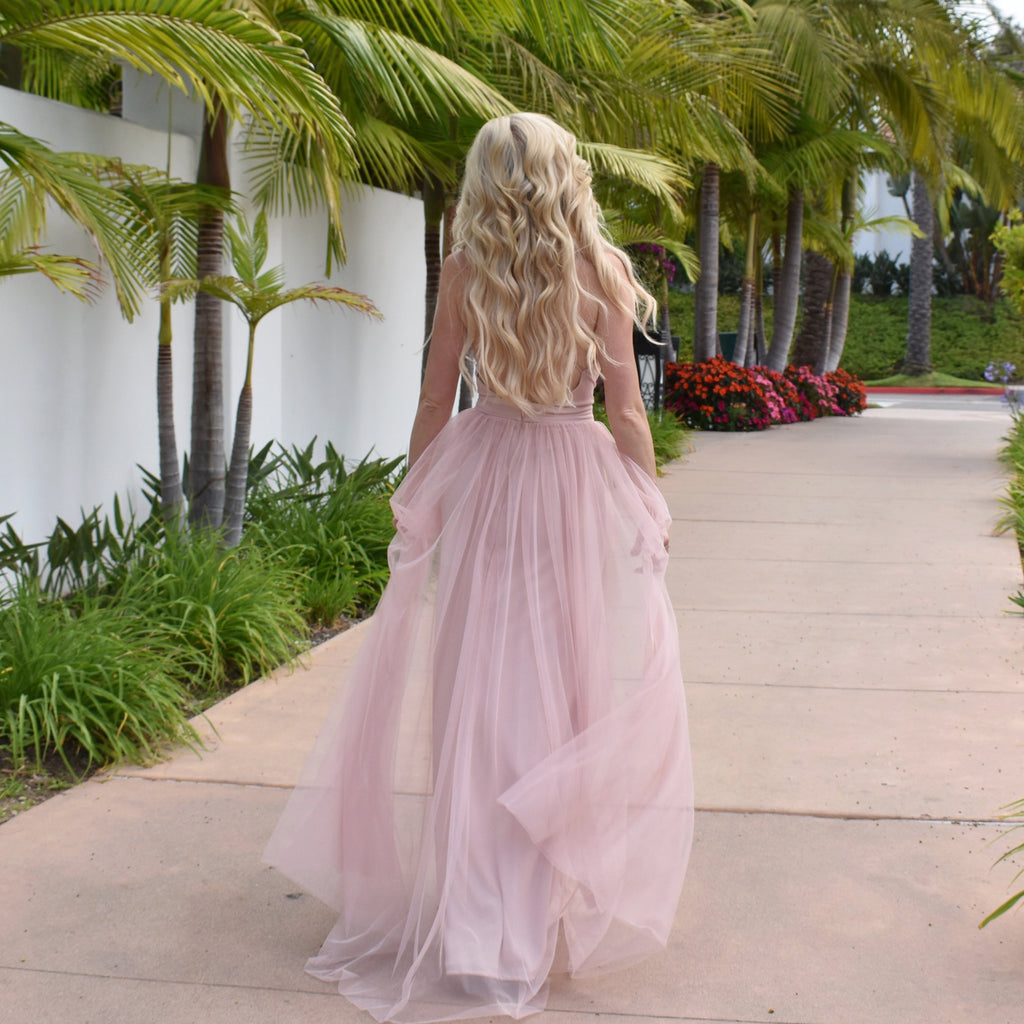 blush rose rene the label prom dress