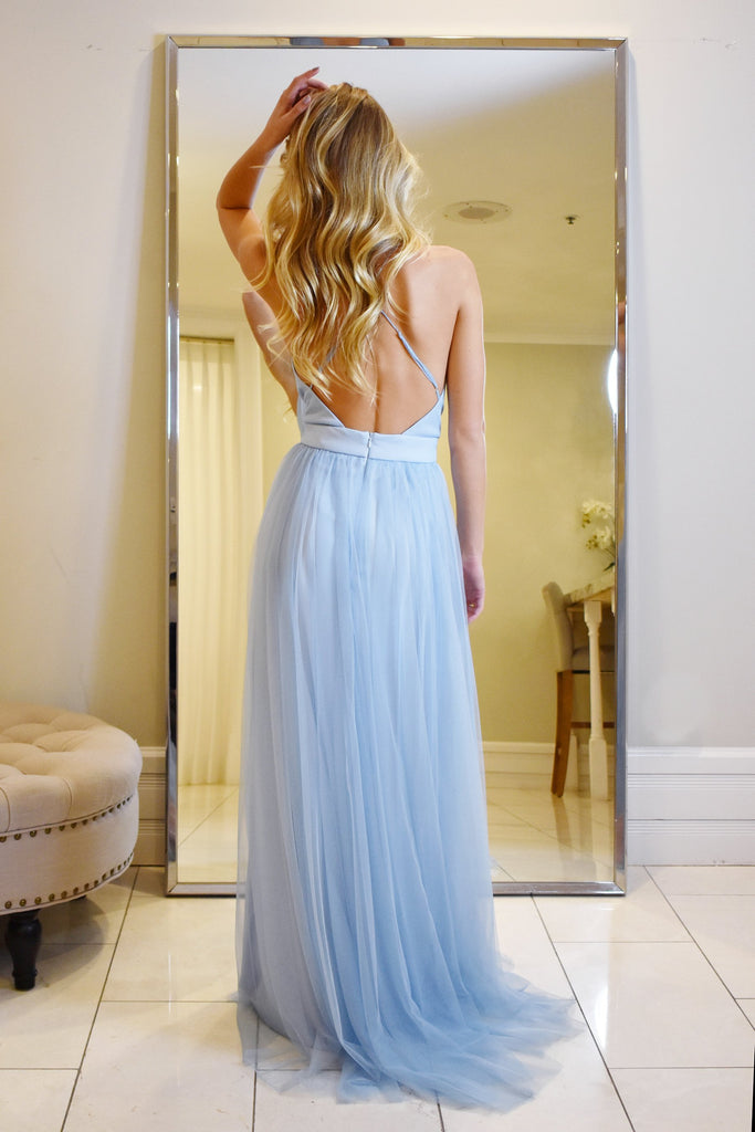 maui gown prom dress with double slits