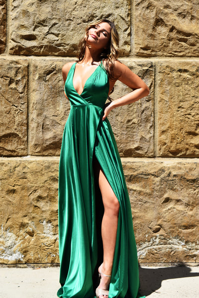 molly gown emerald green prom dress