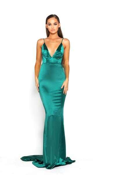 Portia and Scarlett PS1934 emerald green prom dress