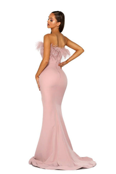 portia and scarlett pink prom dress