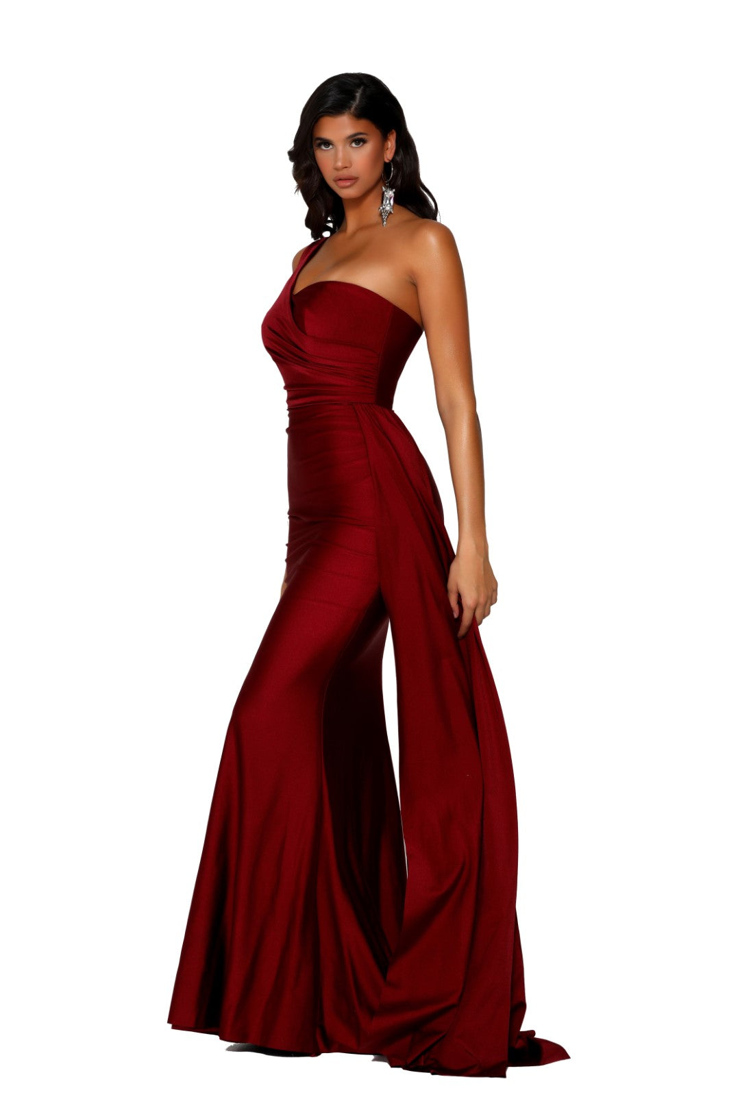 portia and Scarlett ps6321 red one shoulder
