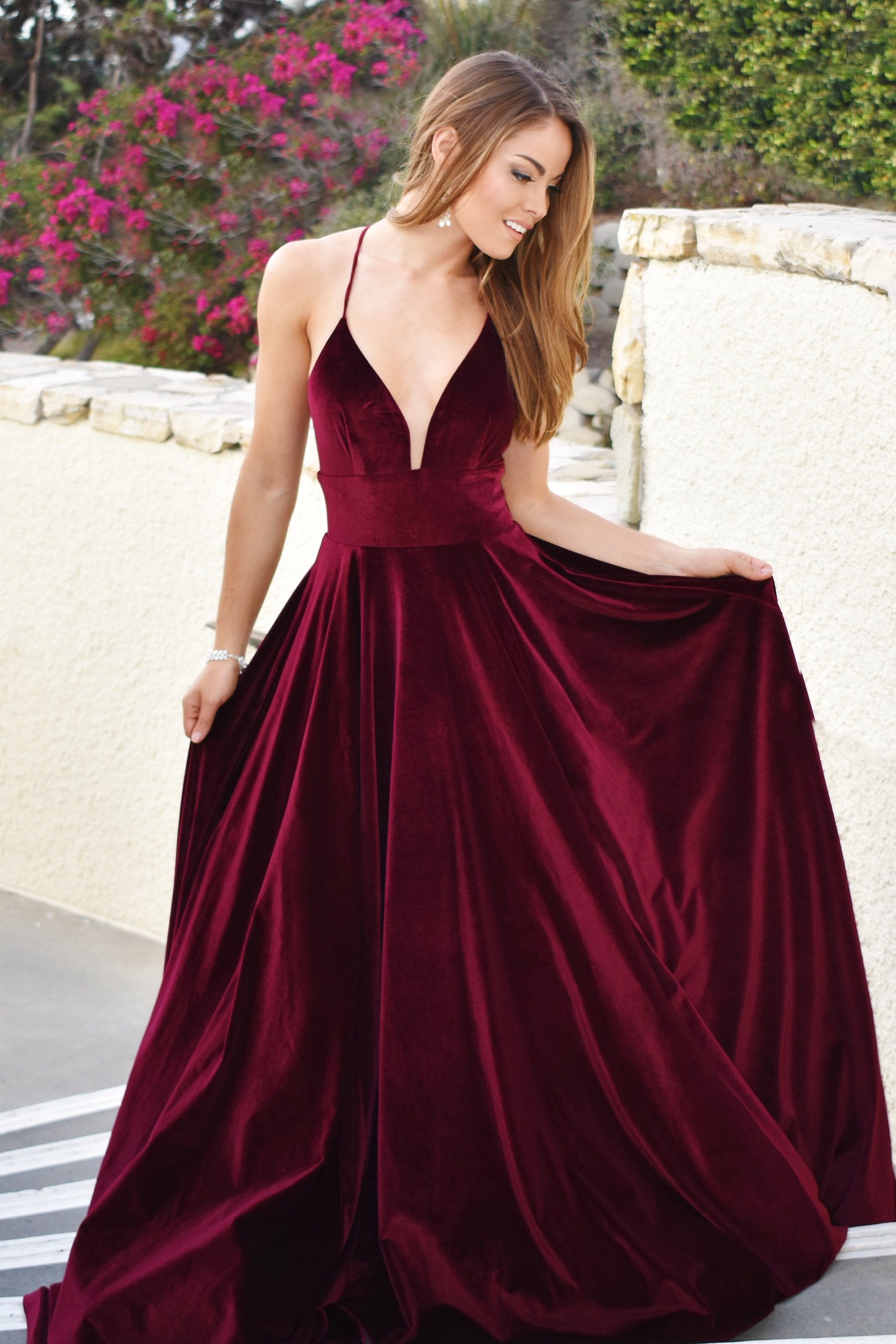 5b625e9fbe2 Pompeii Gown a velvet a line ball gown with sweetheart - Mia Bella ...