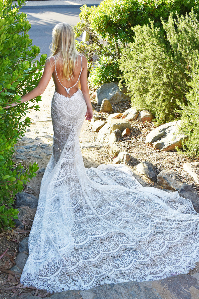 Santorini bridal gown by rene atelier