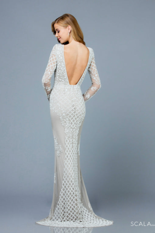 Scala 60175 ivory beaded dress