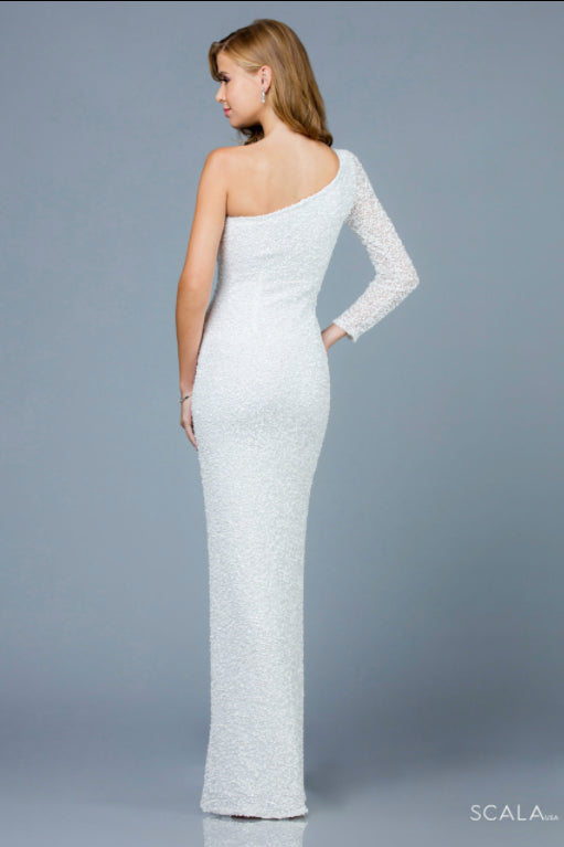 scala 60205 ivory long dress