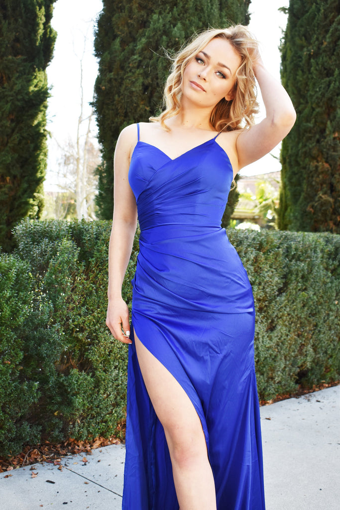 Royal blue scarlett gown