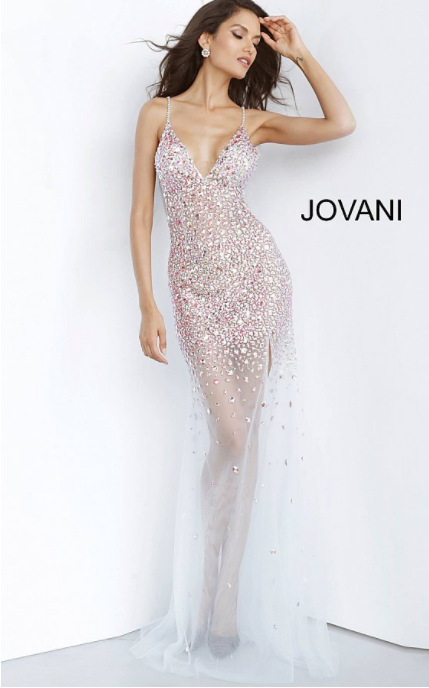 Jovani 02047 Long beaded dress