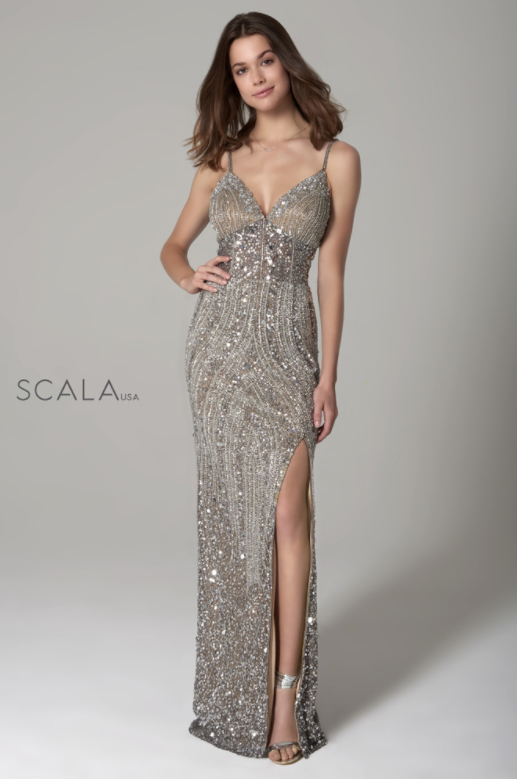 Scala 60127 long beaded dress