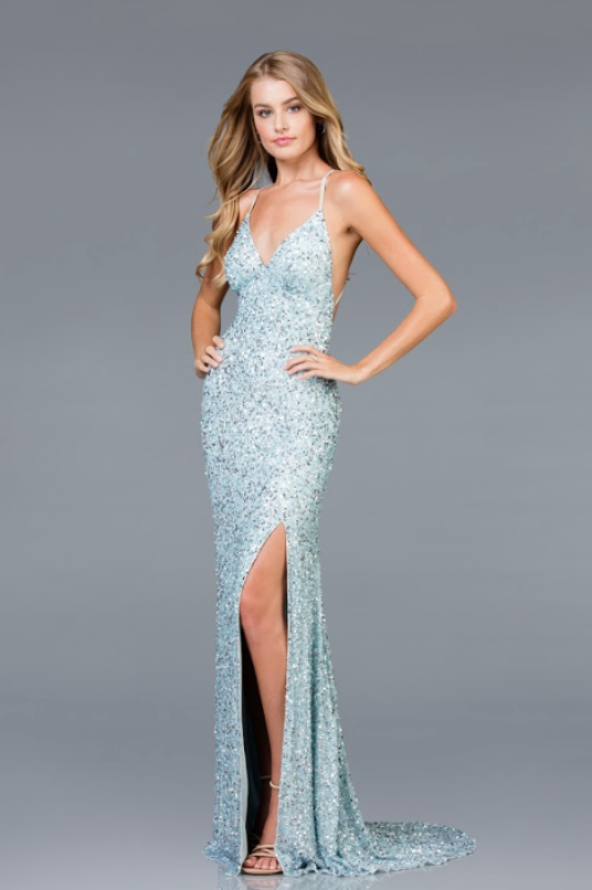 b01bc94166e Scala 48938 low back sequin prom dress with high leg slit - Mia ...