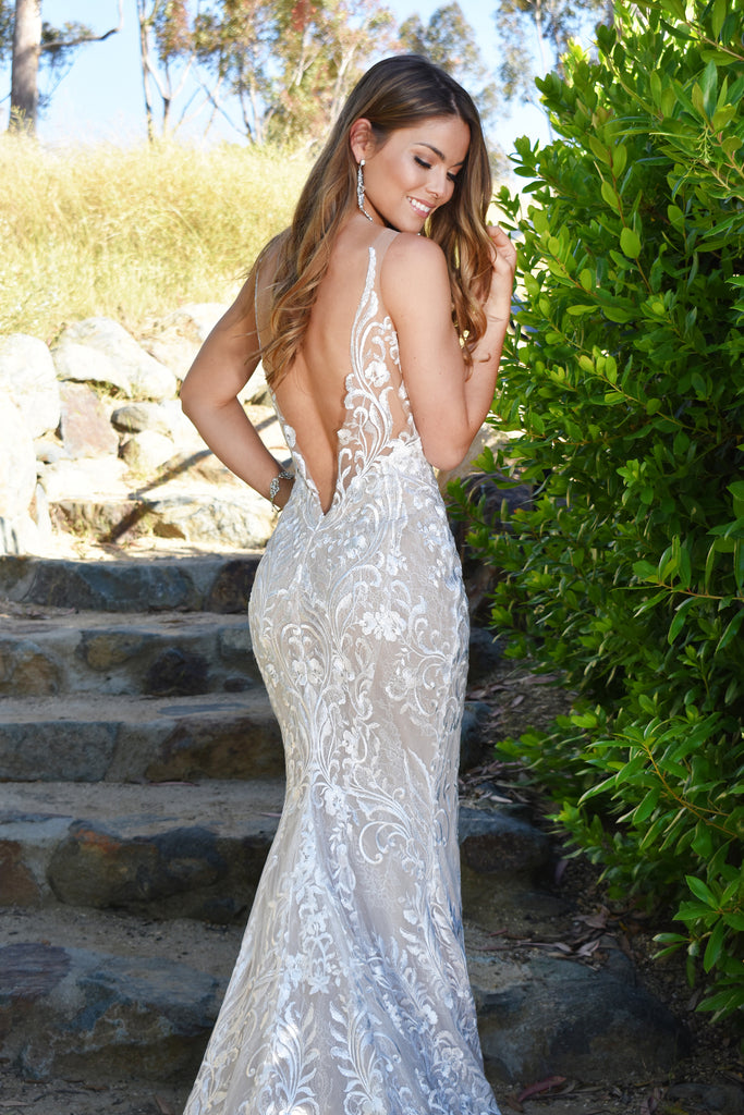 sexy low back lace bridal gown san diego