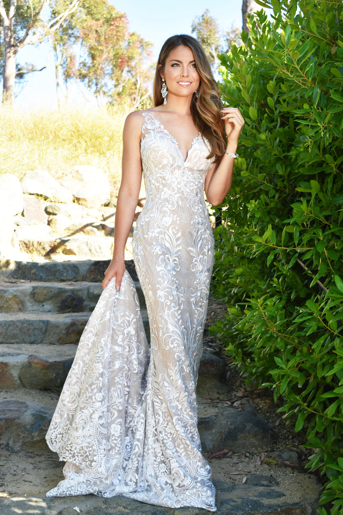low back lace bridal gown san diego