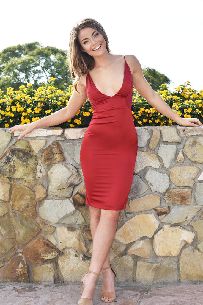 sicily midi red low back short dress