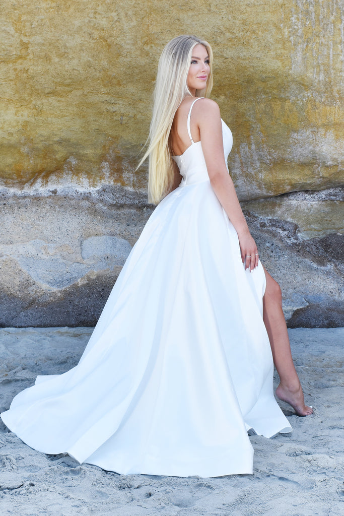 Santa Maria satin beach bridal gown