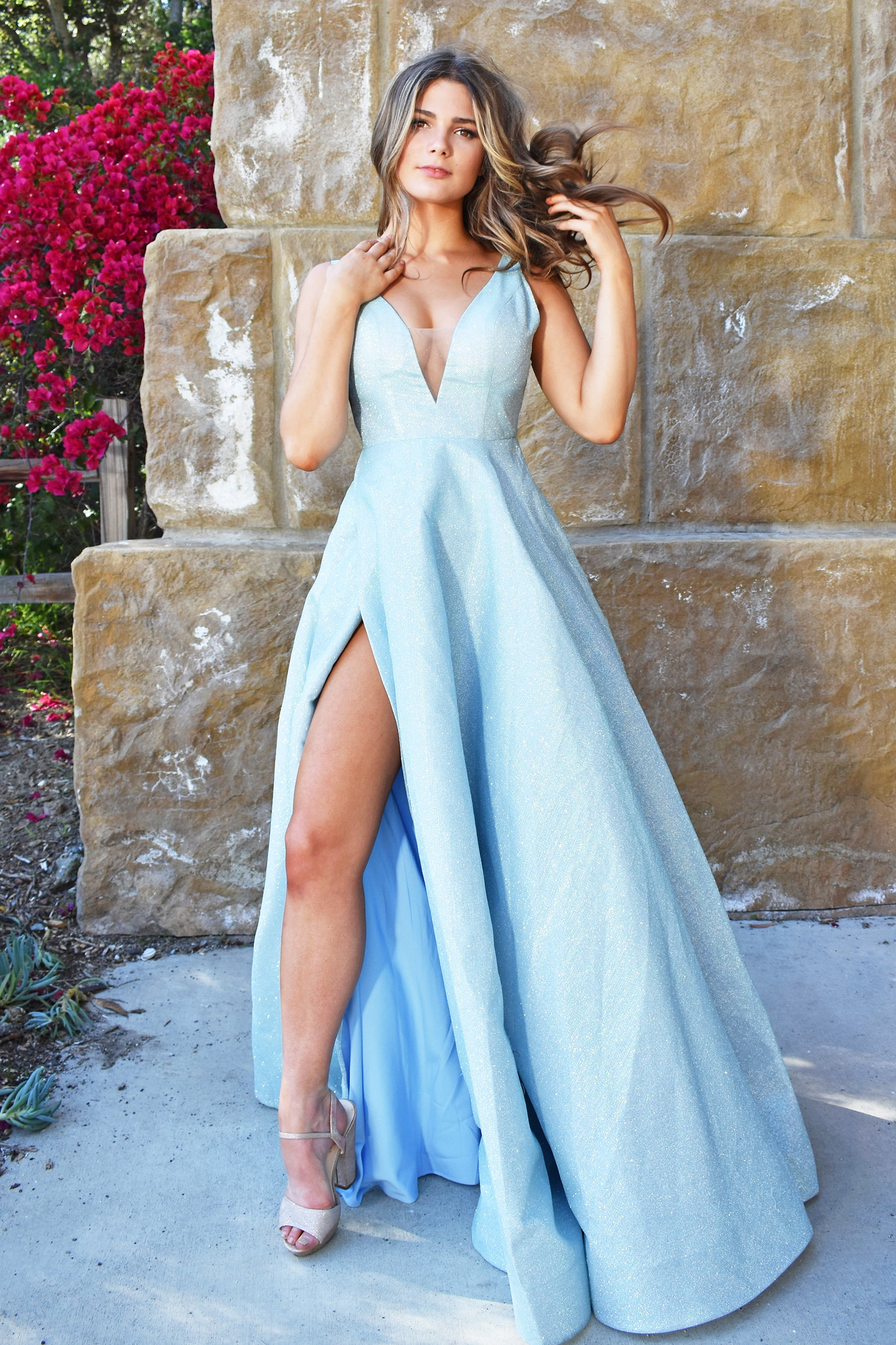 Rene the label light blue prom dress