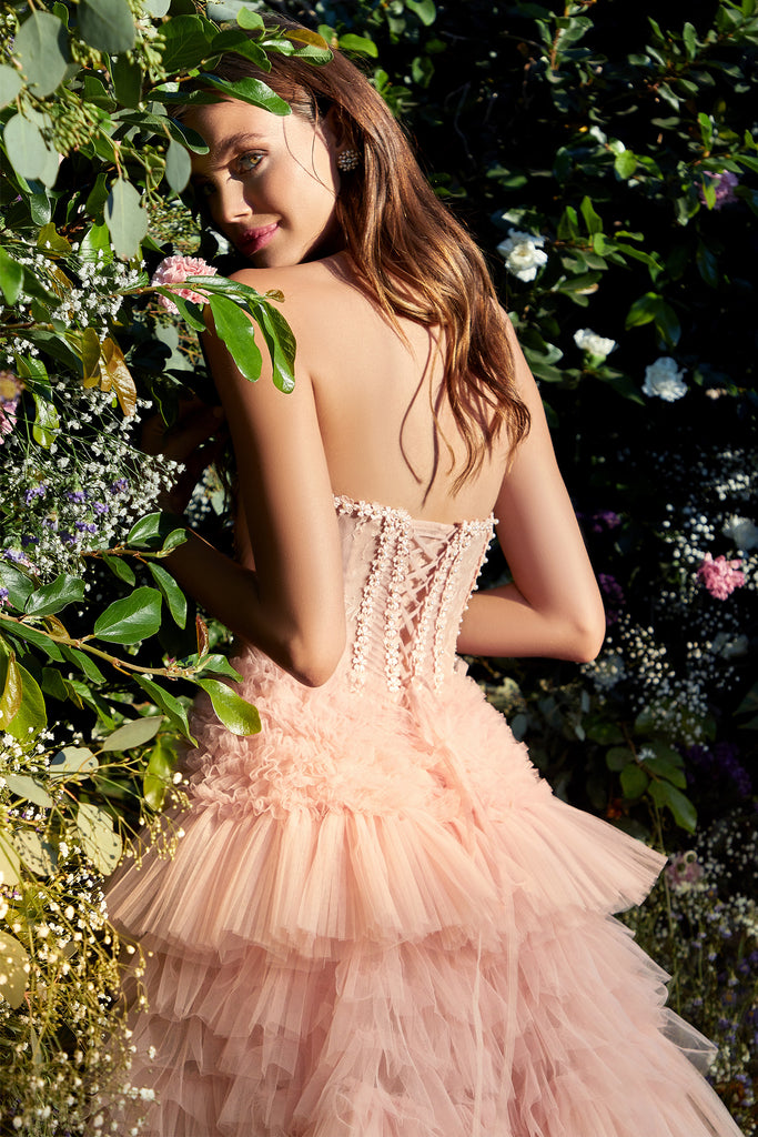Andrea and Leo A1017 strapless bustier ballgown