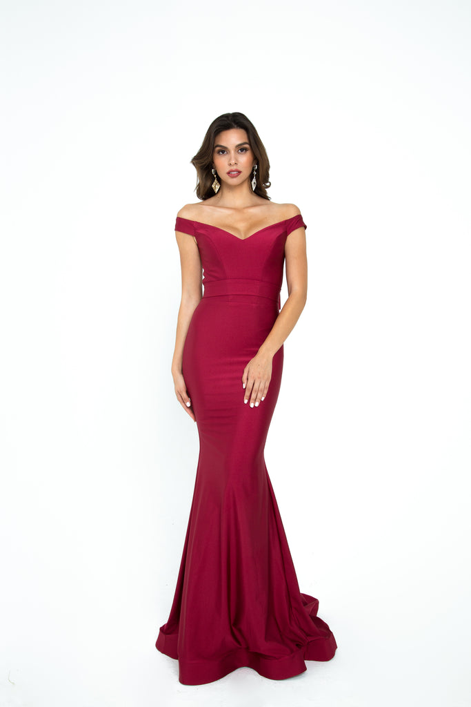 atria 6016H off the shoulder jersey dress