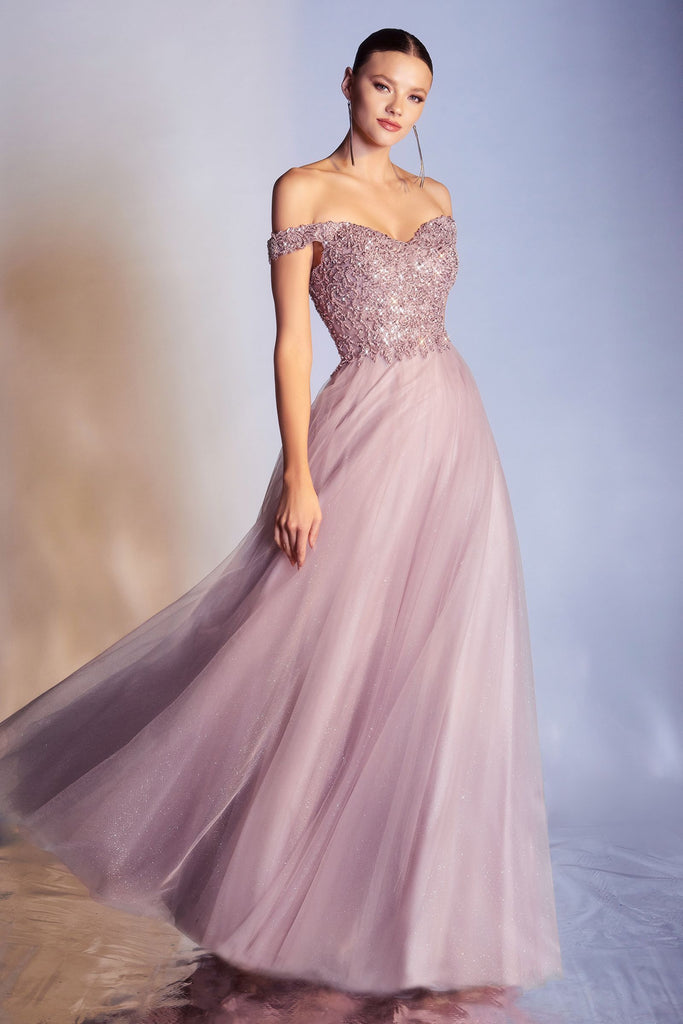 The Raine sweetheart aline long prom dress