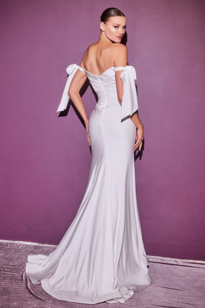 The Fern off the shoulder white long dress