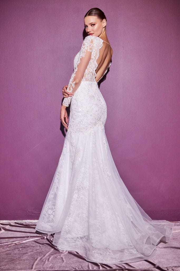 The Nia lace long sleeve bridal gown